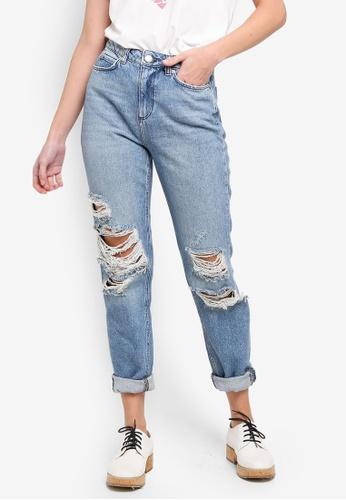19b07d4073a5 Shop Vero Moda Anna Straight Destroy Jeans Online on ZALORA Philippines