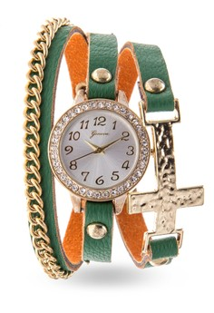 Cross Chained Wrap Watch 14374