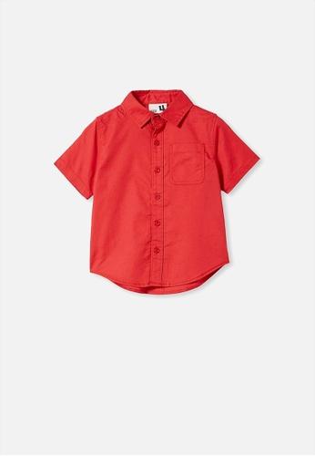 Cotton On Kids red Resort Short Sleeve Shirt EF5C8KAE702B3DGS_1