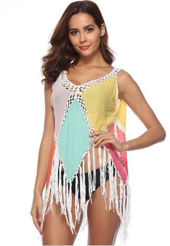LYCKA multi LTH4104-European Style Beach Casual Outer Dress-Multi 92572US96E0D36GS_1