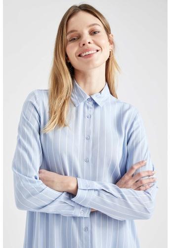 DeFacto blue Woman Long Sleeve Woven Tunic 47312AACF2ADE9GS_1