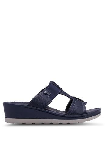 Bata 藍色 懶人楔型鞋 09FB8SHA8ADD3DGS_1