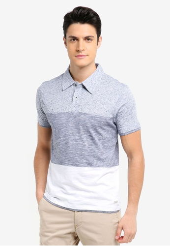 ESPRIT blue and navy Short Sleeve Polo Shirt 6A39DAA3953529GS_1