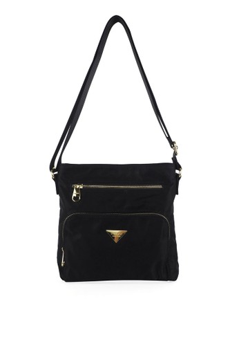Mel&Co black Nylon Sling Bag 9E32CACCA26145GS_1