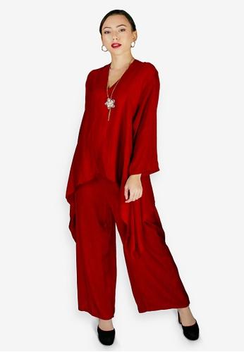 PANGOI red PANGOI Exclusive Babyfly Viscose Batik Plain Muslimah Wear 1EC41AADA7CEEAGS_1