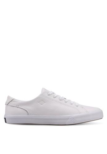 Sperry white Striper II LTT Leather Sneakers 54FDBSH561B232GS_1