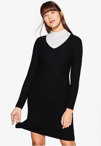 ESPRIT black Flat Knitted Mini Dress ES374AA0RVBNMY_1