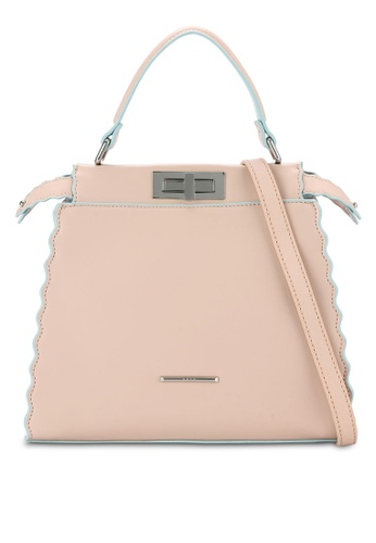 Nose beige Duo Tone Colorful Tote NO327AC0RC9FMY_1