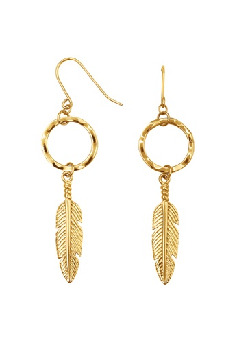 Pastiche gold Dream Catcher Earrings 5CE68ACAEFF5CAGS_1