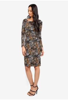 b8f9c5ad9ee6 15% OFF Wallis Black Printed Tie Side Midi Pencil Dress RM 269.00 NOW RM  228.90 Sizes 8 10 12 14 16