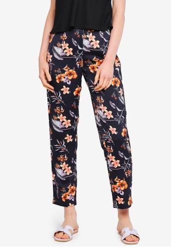Pieces navy Floral Pants 4D879AA82D151AGS_1