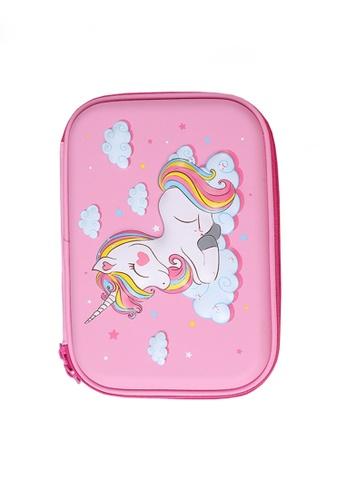 Twenty Eight Shoes pink VANSA 3D Cartoon Pencil Case  VAK-A0021 2E384KC70EECC7GS_1