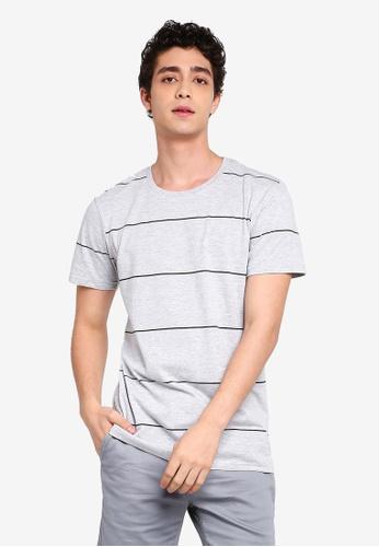 Cotton On 多色 短袖條紋T恤 2FA9FAA178DE6BGS_1