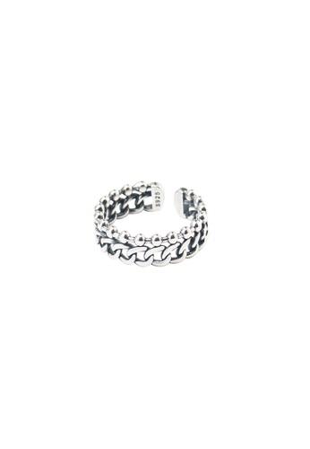 A-Excellence silver Premium S925 Sliver Geometric Ring 921B3ACAEB3E65GS_1