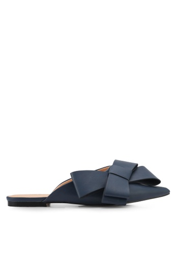 Something Borrowed blue and navy Bow Slip-on Flats 80887ZZ7A40659GS_1