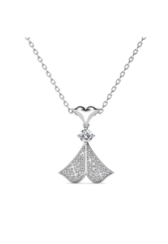 Her Jewellery silver Rain Doll Pendant (White Gold) -  Made with premium grade crystals from Austria EC233ACB9712DCGS_1