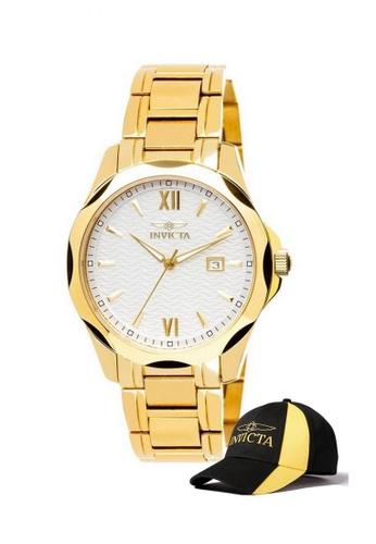INVICTA gold Invicta Specialty Men 41mm Case Stainless Steel Strap Dial Quartz Watch 18109 w/ Cap 75A62AC570D6E2GS_1