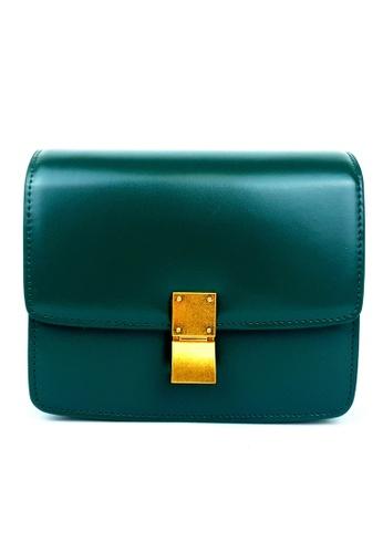 BELLE LIZ green Gold Buckle Retro Leather Party Handbag Crossbody Bag Green 2067EAC1C44478GS_1