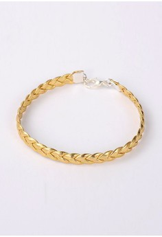 Leather Cord Bracelet - Gold
