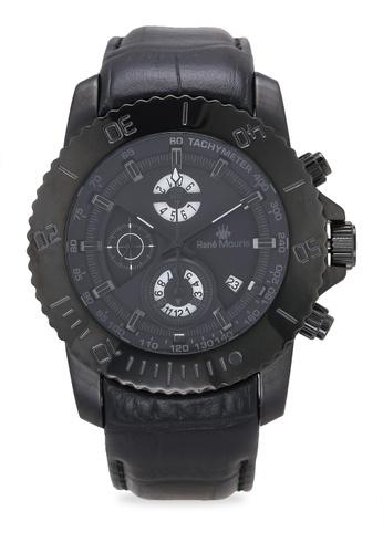 René Mouris black L.I.F.L - 45.5mm Quartz Chrono Watch 903CFACB69AF55GS_1