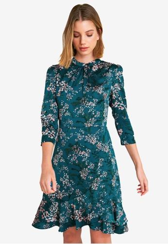 FORCAST green Sarai Crossover Ruffle Dress 7E487AAE3ADF41GS_1