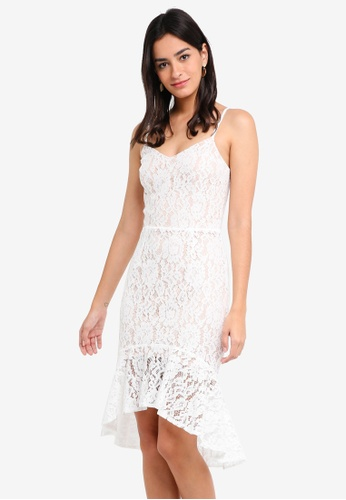 MDSCollections white Nicole Cami Lace Dress In White BD848AA301F689GS_1