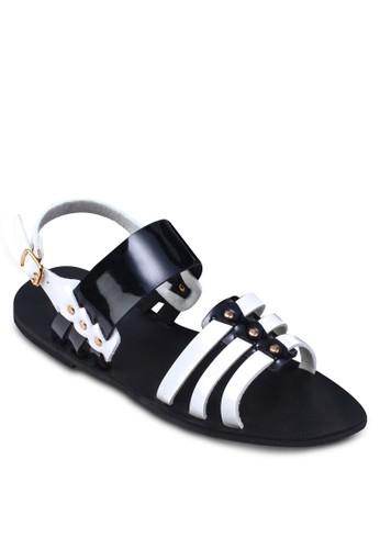 踝帶羅馬涼zalora 衣服尺寸鞋, 女鞋, 鞋