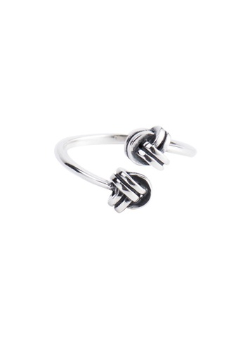 A-Excellence silver Premium S925 Sliver Knotted Ring DB0B6ACED8E9DEGS_1