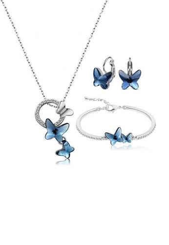 ADORA blue Swarovski  Butterfly Set F8420ACF0F5536GS_1
