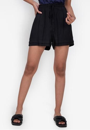 ZALORA BASICS black Drawstring Shorts 14679AA6D347D6GS_1