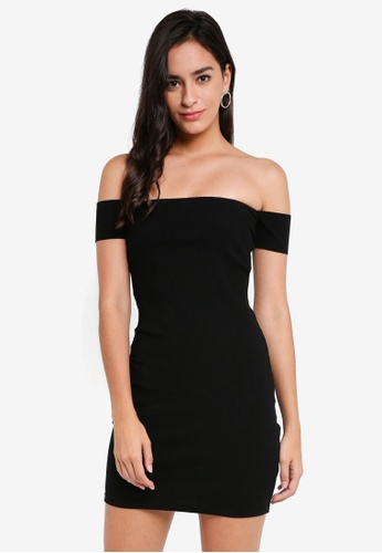 f331e14e80fd Shop Something Borrowed Off Shoulder Bodycon Dress Online on ZALORA  Philippines