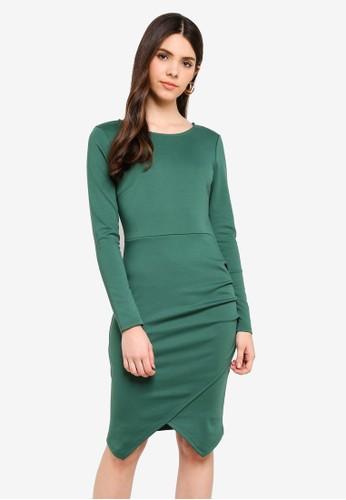 ICHI green Kate Dress B57DDAAB8C948FGS_1