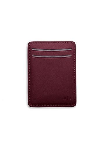 PLAIN SUPPLIES red KAS I Cardholder Wallet in Burgundy 51DF0AC91BD853GS_1