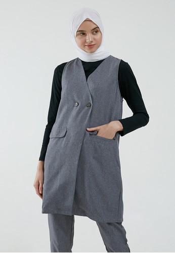 MFMW grey MFMW Thylane Vest Abu-abu 79BEBAA6A46181GS_1