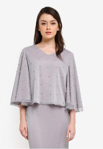 Zalia grey Embellished Crop Top CB510AA8225C64GS_1