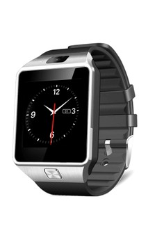 SIMAX S1 Bluetooth Smart Watch with Camera Facebook/Twitter on Black Rubber Strap - SIMAX-S1-BLK