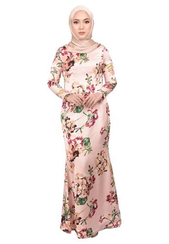 FATIMÉ multi Dress Bougainville (Pink) 90437AA47780EFGS_1