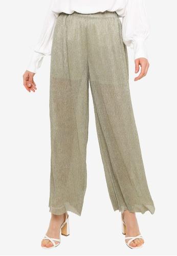 URBAN REVIVO green Wide Leg Trousers 75A96AA598B78AGS_1