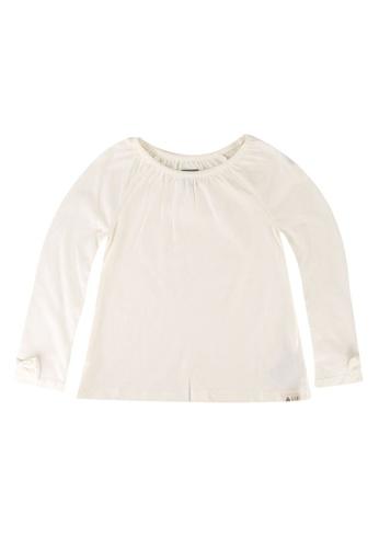 GAP white Long Sleeves Raglan Tunic Top F981AKAEB73897GS_1