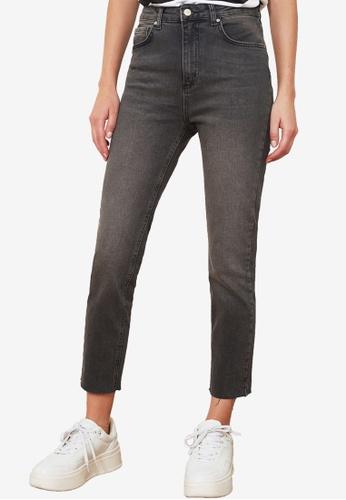 Trendyol black Mid Rise Skinny Jeans E5264AA882EDE6GS_1