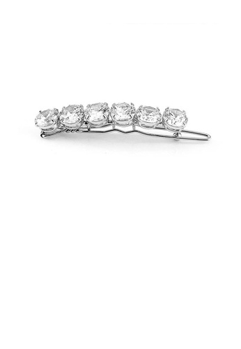 Glamorousky silver Glistering Barrette with Silver Austrian Element Crystal BEE57AC7B40B7AGS_1