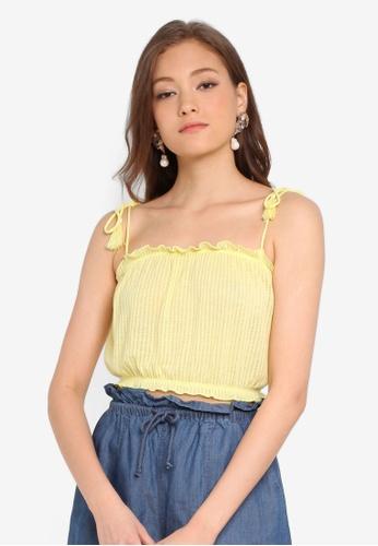 e322ea9d0ff8 Miss Selfridge yellow Pale Yellow Sleeveless Tassel Camisole Top  6F874AACEDB685GS_1