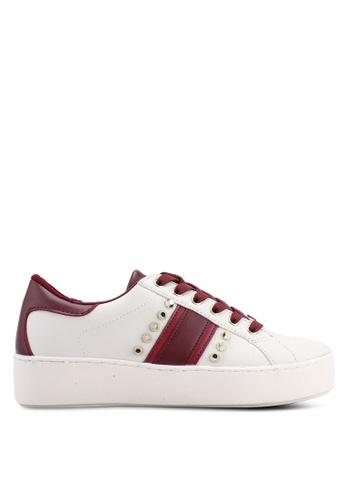 River Island 多色 條紋綁帶運動鞋 EA6E5SH4981268GS_1