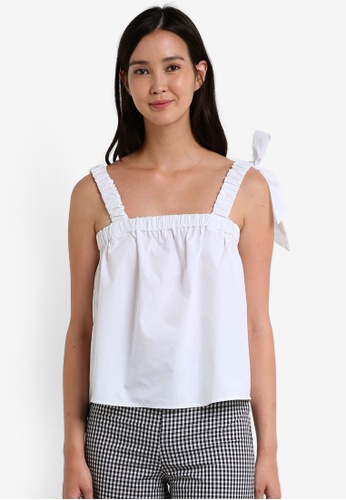 Mango white Bow Strap Top MA193AA0RBX4MY_1