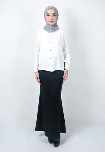 Ladies Jeans grey Ordinary Plain Long Skirt 13A66AA3DD1815GS_1