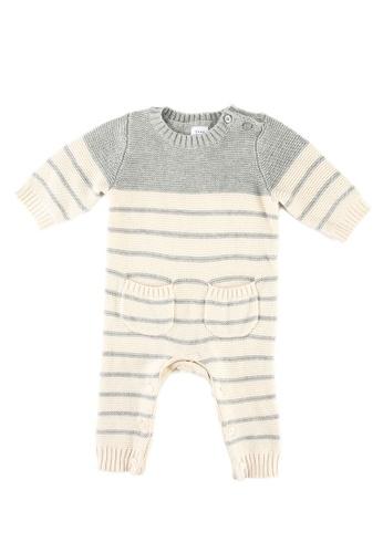 GAP grey Striped Knitted Jumpsuit 7C31FKAC4DD1C2GS_1