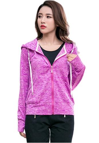 B-Code purple ZYG3094-Lady Quick Drying Running Fitness Yoga Sports Jacket -Purple 68AC5AACDFBEB1GS_1