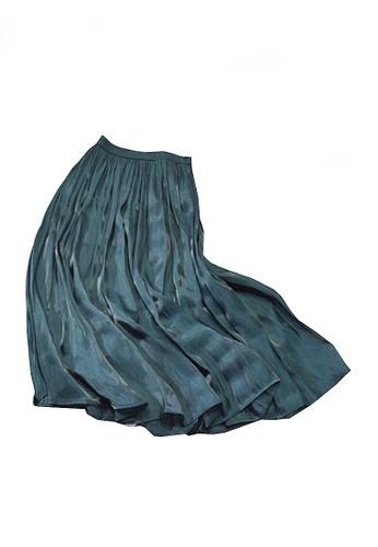 Twenty Eight Shoes blue VANSA Pearly Yarn Pleated Skirt VCW-Sk18588 51836AA12C1185GS_1