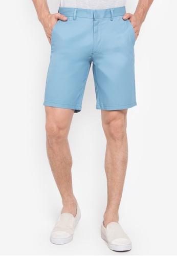 Coupe Classique Short Chino Avec Ceinture En Bleu Clair - Bleu Burton Vêtements Pour Hommes 1icRZfk
