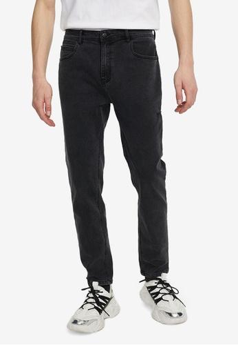 URBAN REVIVO grey Casual Denim Jeans 93006AAD2D9E87GS_1